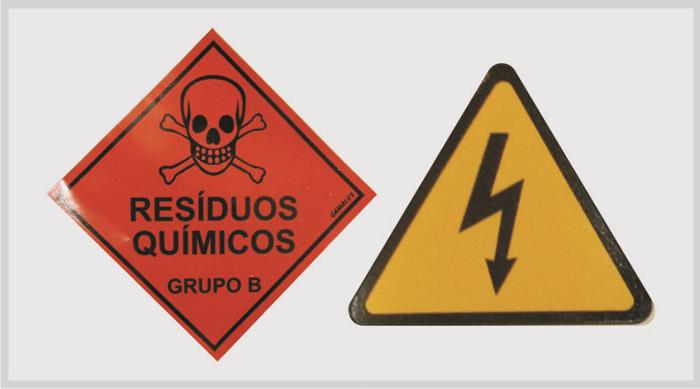 Adesivos de sinalização