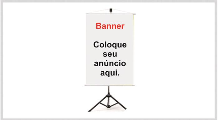 Banner de sinalização
