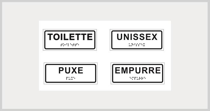 Etiquetas em braile