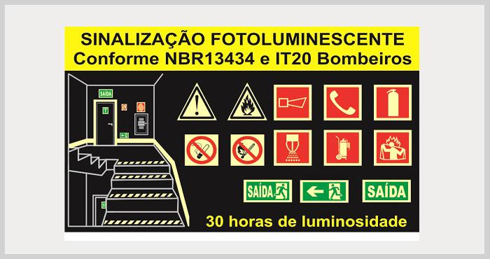 Placas fotoluminescentes