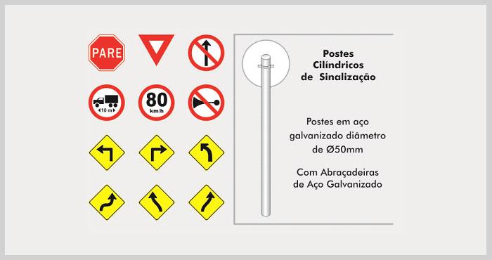 Placas de sinalização de trânsito